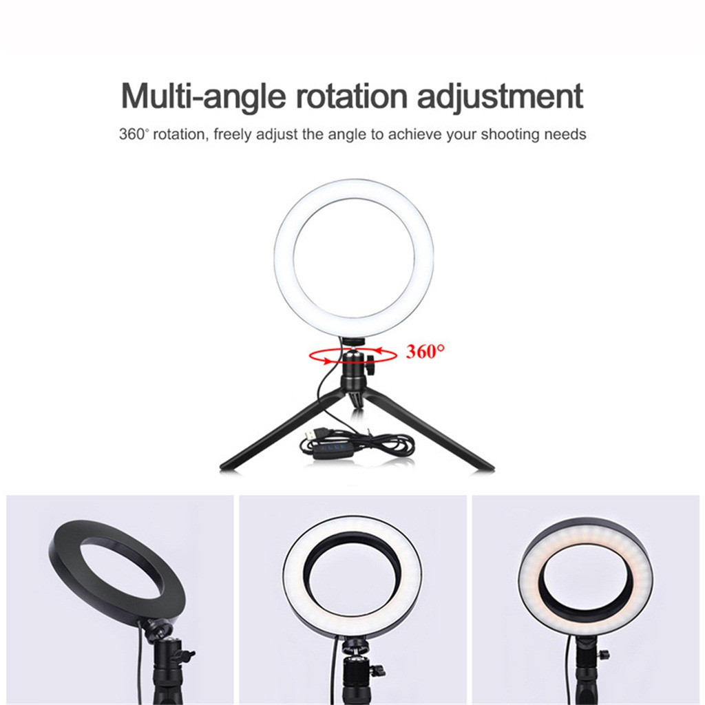 cheapest Selfie Ring Light 36 LED Camera Flash Lamp For iPhone Samsung Huawei Xiaomi Beauty Photography Video Calls Supplementary Clip