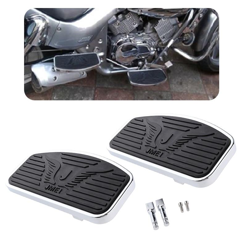Motorcycle Billet MX Wide Foot Peg Pedal Rest Footpeg For Honda VTX 1300/1800 Boulevard /Intruder 9.4x4.9x0.6″ Moto Accessories