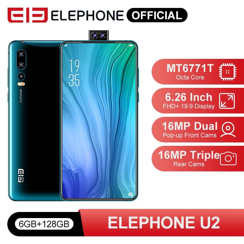 ELEPHONE U2 MTK MT6771T Octa Core 6GB 128GB Handy 16MP Pop-up Cam 6.26