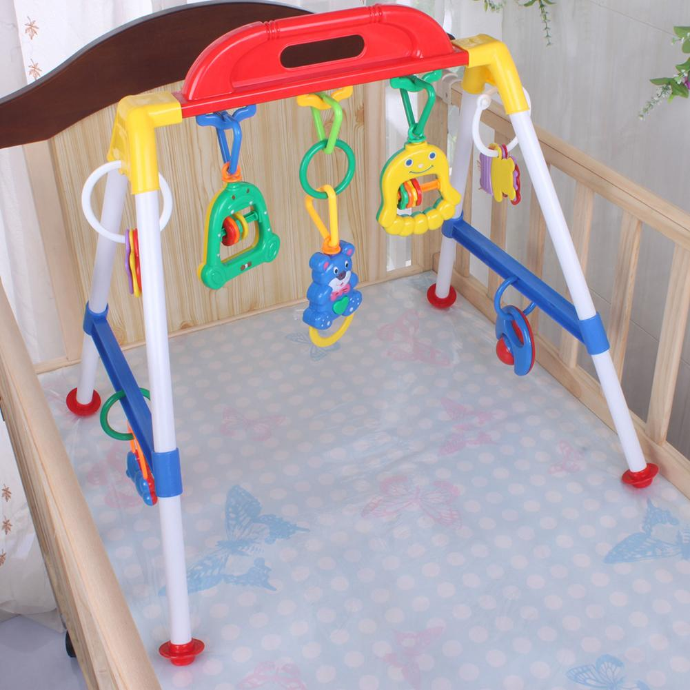 Baby Gym Cross Bar Triangled Round Ring Playgym Toys Educational Kids Xmas Gift Help Baby To Enhance The Shape Color Cognition