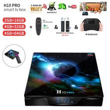 H10 Pro Smart TV BOX Android 9.0 TV box Allwinner H603 4GB 64GB 6K Media Player Dual Wifi H10 PRO Set Top Box 4GB RAM 32GB цена 2017