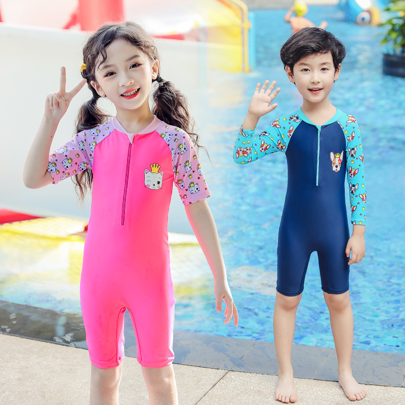 KID'S Swimwear Men And Women Children One-piece Big Boy Small CHILDREN'S Long Sleeve Beach Sun-resistant Boys And Girls Baby Swi