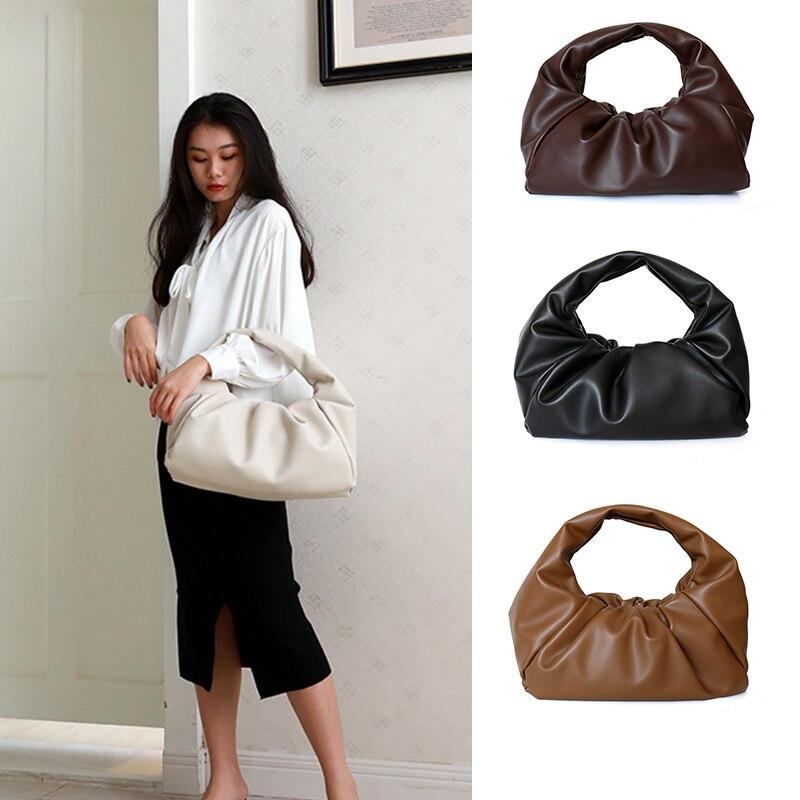 40CM The Shoulder Pouch High Quality Designer Bag Ladies Handbags And Purses Soft PU Leather Handbag For Women 2020 Burgundy Bag