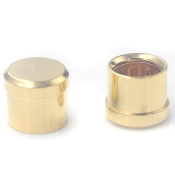 16 Uds enchufe para circuito corto chapado en oro conector fono RCA blindaje Jack Socket tapas protectoras