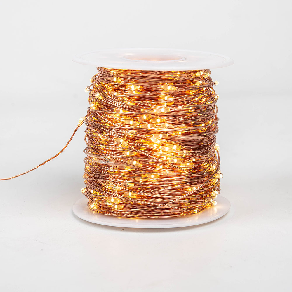 Image 2 - 100M 1000LEDs Copper Wire Fairy string Lights Wateproof Plug In Adapter for Outdoor Christmas Party Holiday wedding Decoration-in Holiday Lighting from Lights & Lighting on