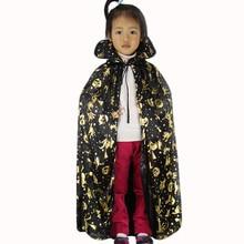 Ночнушка# P501 Новая модная водолазка бронзовая накидка пальто Wicca халат призрак на Хэллоуин одежда золотые вечерние платья