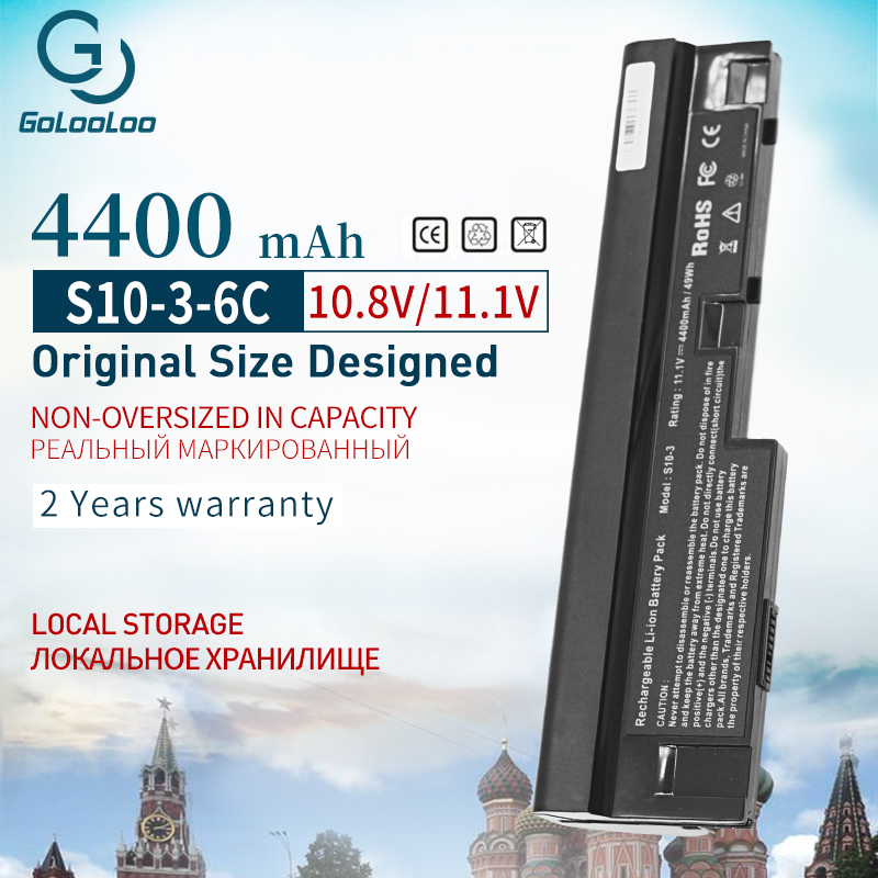 Golooloo 4400 MAh Laptop Battery For Lenovo IdeaPad S100 S10-3 S205 S110 U160 S100c S205s U165 L09C3Z14 L09S6Y14 L09M6Y14 6Cells