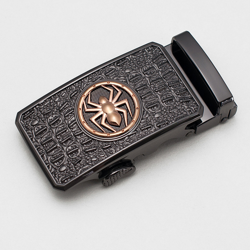 New Fashion Men's Business Alloy Automatic Buckle Unique Men Plaque Belt Buckles For 3.5cm Ratchet Men Apparel Accessories Belts