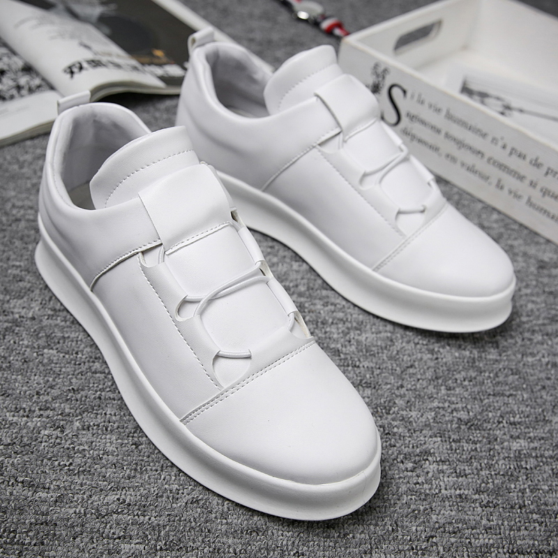 2019 Spring New Brand Men Skateboarding Shoes Slip-On Outdoor Walking Male Shoes Jogging Sneakers White Black Board Shoes NC-97