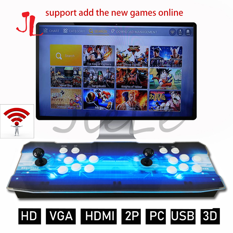 Pandora Box 3D Arcade Box 2448 In 1 Wifi Version No Delay Joystick Light Buttons PCB Controller Retro Arcade Console