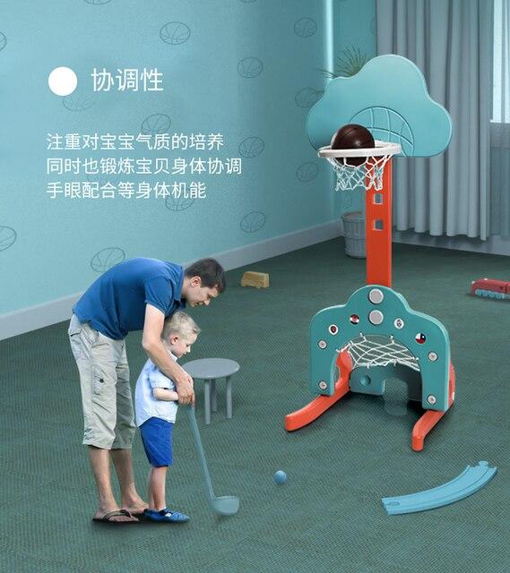 Enfants basket-ball support cerceau cadre de tir réglable Football sport bébé intérieur basket jeux bébé développement jouets A5A