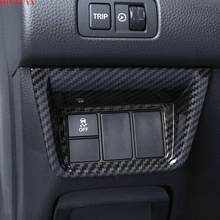 Bjmycyy quadro decorativo de fibra carbono inferior esquerda painel controle do motorista principal para honda accord 10th 2018 2019(China)