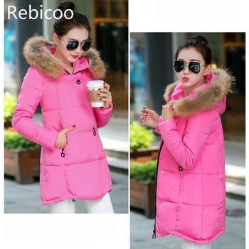 цена на Women Fur Collar Coat Warm Thicken Jacket Woman Down Jacket Plus Size Pregnant Jacket Women Outerwear Maternity Clothes Winter