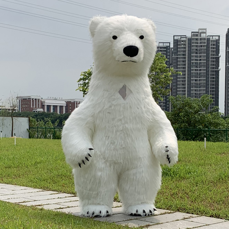 Polar Bear Costume Inflatable Mascotte Pour Adultes Gonflable Polaire Costume  Public Pour Fantaisies Homem Personnaliser