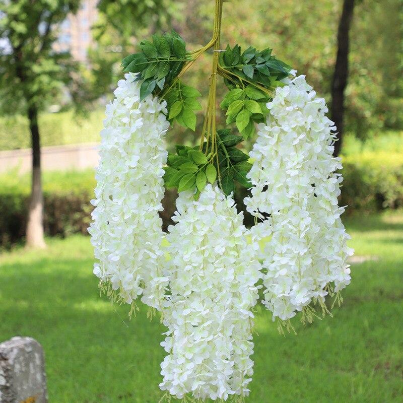 Искусственный цветок, цветок глицинии, подвесной цветок, цветок для свадьбы, сада, художественное украшение для гостиной, офиса