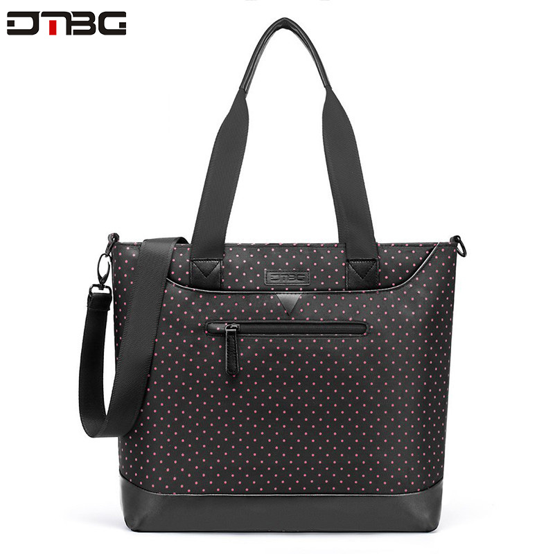 DTBG Vintage Laptop Briefcase Multi-function Large Capacity Shoulder Bag Women Casual Office Beach Tote Bolsos Girl Briefcase