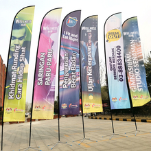 Beach Flagpole Feather Teardrop Flags And Banners With Flag Pole Custom Printing Club Advertising Sport Outdoor Using Promotion