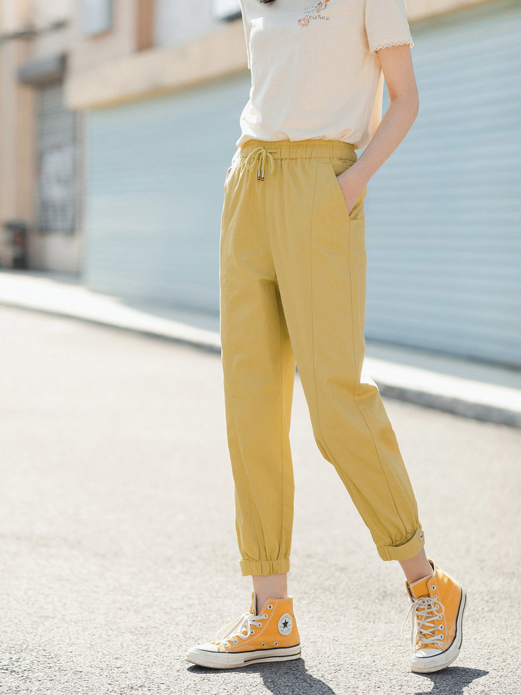 INMAN Pencil-Pant Frock-Style Sport Fashion Summer Cotton Personality New-Arrival