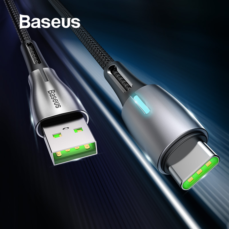Baseus 5A Water Drop Shaped USB C Cable for Huawei SuperCharger QC 3.0 Fast Charging USB Type C Cable for Xiaomi Samsung Cord-in Mobile Phone Cables from Cellphones & Telecommunications on AliExpress