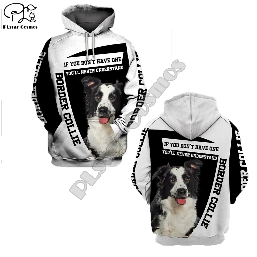 Unisex Mens Border Collie Dog 3d Print Hoodies Autumn Long Sleeve Sweatshirts Women Pullover Tracksuit Hood Hoody Spring Outwear