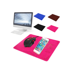 New PU Leather Qi Universal Wireless Charging Mouse Pad for IPhone X/8  Mouse Pad цена 2017