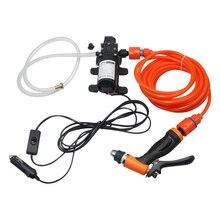 Bomba de alta presión para lavado de coche, lavadora portátil de 12V, limpieza eléctrica, cuidado del coche