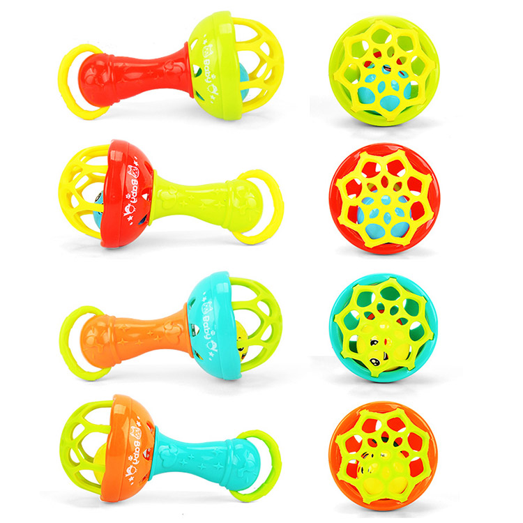 High Quality Baby Rattles Develop Intelligence Grasping Gums Hand Bell Rattle Funny Educational Toys Gifts