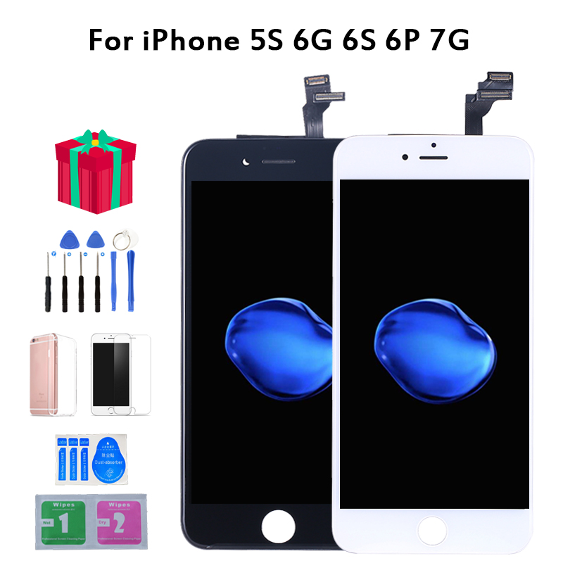AAAA Original Color Screen LCD For iPhone 5s 6 6s 6P 7 LCD Display Assembly Digitizer With 3D Touch Replacement LCDNo Dead Pix image
