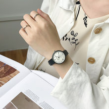 Elegant Women Quartz Watches Vintage Brief Round Dial Leather Strap Ladies Quartz Wrist Watches Girls Gift Fashion Dress Watch(China)