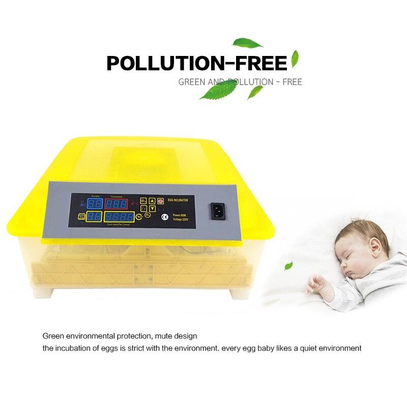 48 инкубатор для яиц цифровой полностью автоматический мини инкубатор для яиц токарная машина - 3