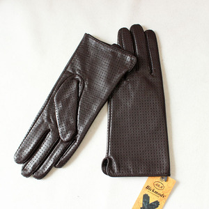 Image 4 - ถุงมือหนังแพะผู้หญิงฤดูใบไม้ผลิบางเรยอนซับหนังสไตล์ Repair Hand ฤดูร้อน sheepskin ขับรถถุงมือ