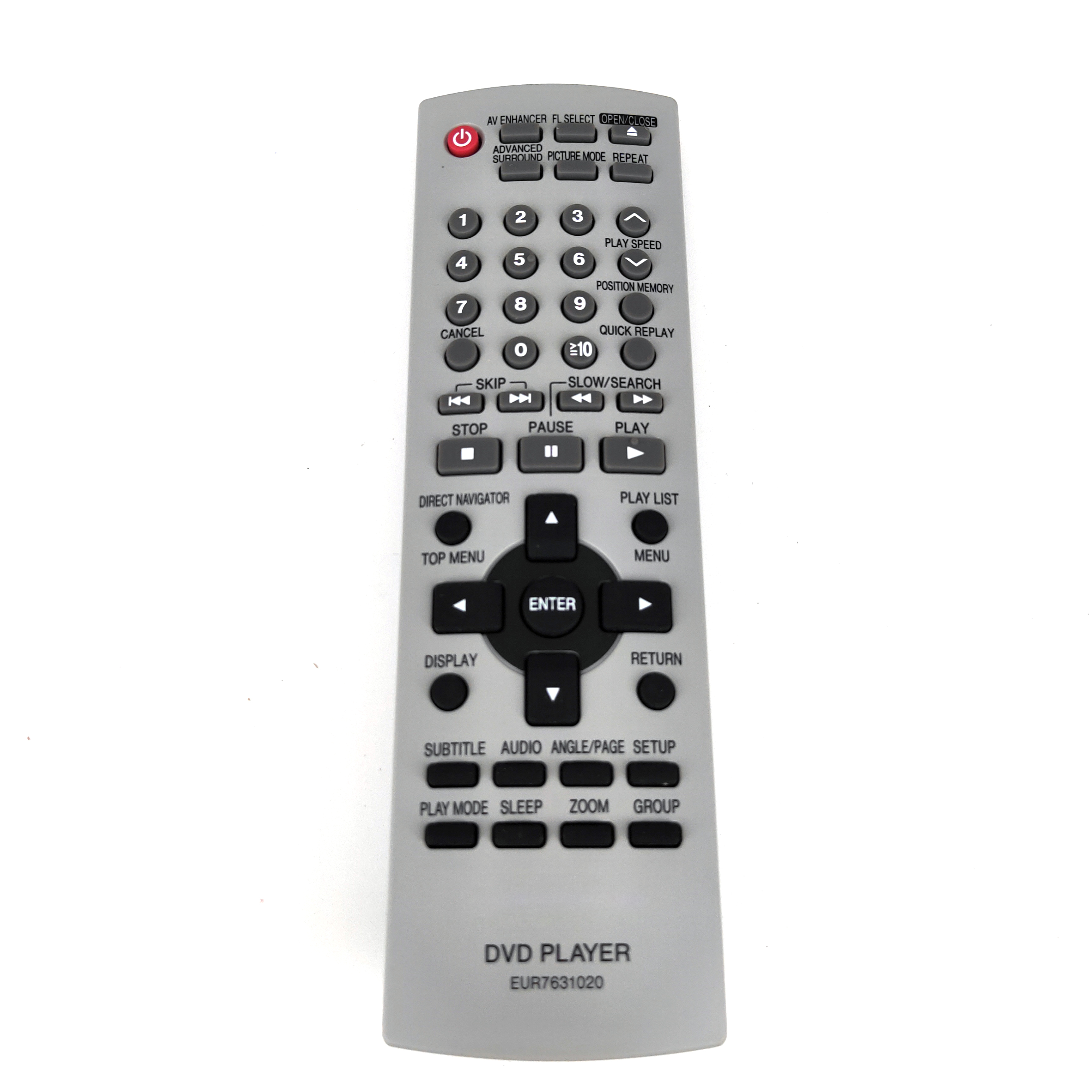 New Original EUR7631020 for Panasonic DVD Player Remote Control for DVD S24 DVD S27 DVD S27K DVD S27P FernbedienungRemote Controls   -