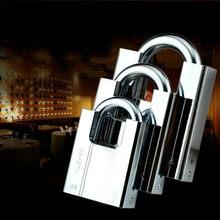 Cadeado com chave antiferrugem à prova dantiágua, cadeado multifuncional, bloqueio antiroubo fechadura da porta trava desbloqueado