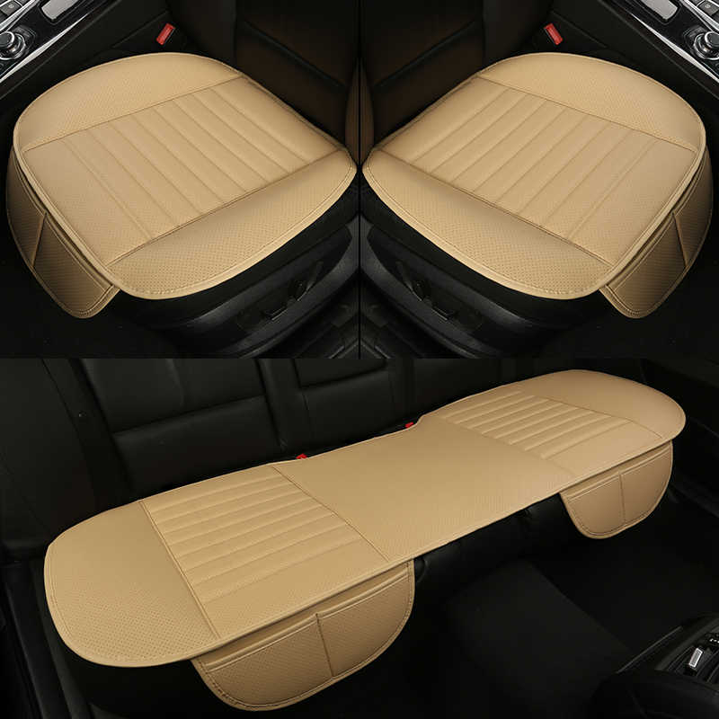 WLMWL Universal Leather Car seat cushion for Jeep all models Grand Cherokee renegade compass Commander Cherokee car styling