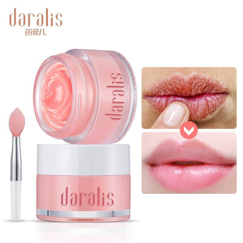 Daralis 15g Nourishing Strawberry Lips Mask Plumper Moisturizing Repair For Lip Care Chapped Cracked Lip Protection Sunscreen