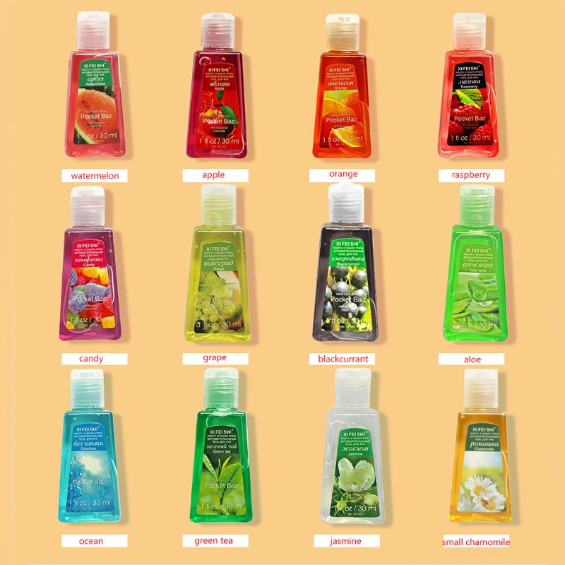 30ml Hand Sanitizer Gel Fruit Scented Disposable No Clean Portable Disinfectant