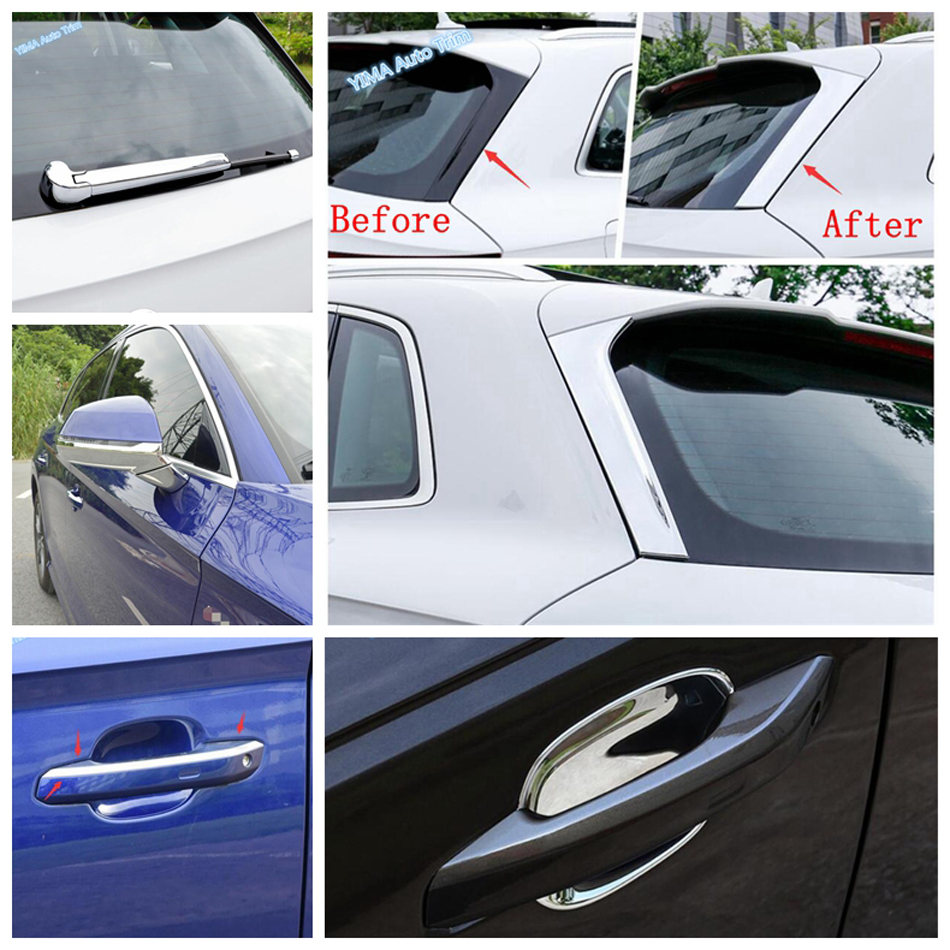 Lapetus Shiny Door Handle Bowl Rear Window Wiper Stripes Sequins Mirror Rubbing Strip Cover Trim For Audi Q5 2018 2020 Chromium Styling Aliexpress