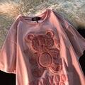 Liebe Bär 3D Drucken Kurzen ärmeln T-shirt 2021 Neue Frühling Sommer Übergroßen Lose Graphic Tee Kawaii Mädchen Kleidung Frau t-shirt