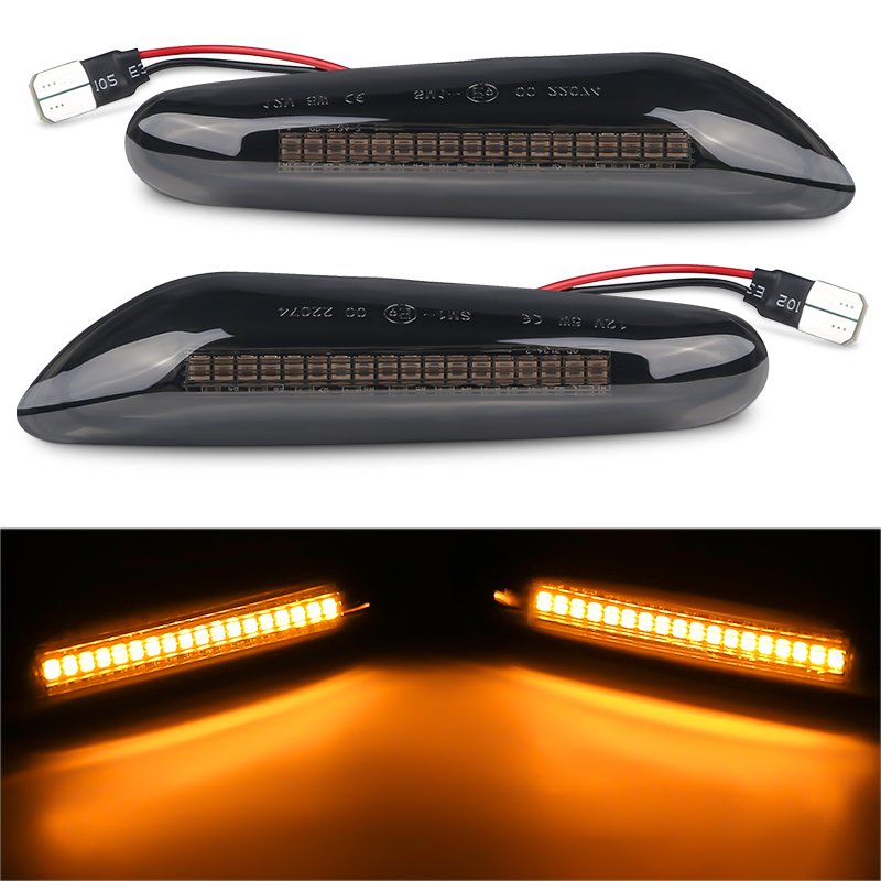 2PCS 12V Led Dynamic Side Marker Lamp For BMW E46 E90 E91 E36 X3 E83 X1 E84 X5 E53 E81 E82 Led Turn Signal Light Indicator Lamp image