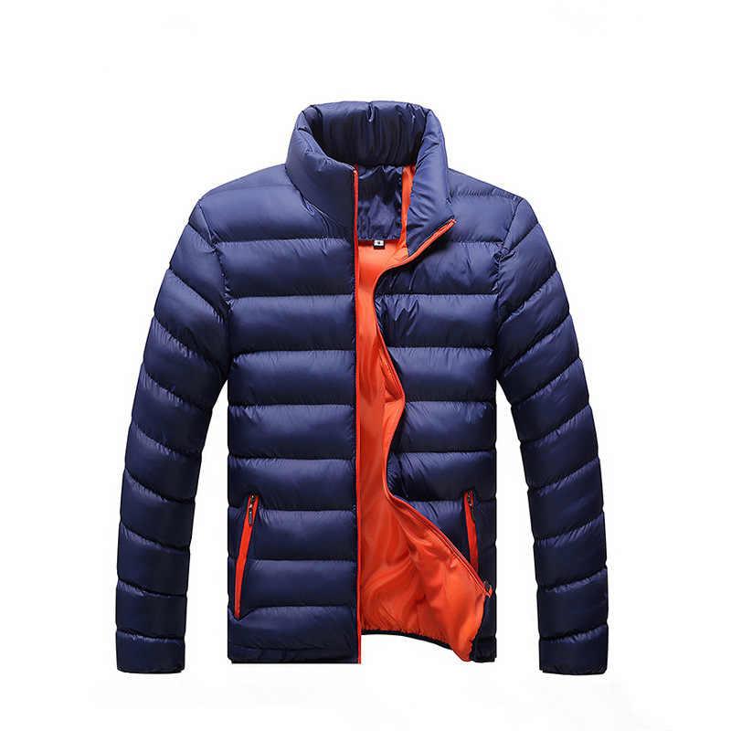 GEJIAN chaqueta de invierno para hombre de marca 2019 chaquetas casuales para hombre Abrigos Parka gruesa ropa de abrigo M-4XL chaqueta para hombre