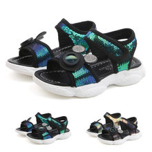 Toddler Infant Kids Baby Boys Girls Sequins Bling Sports Shoes Sneakers Sandals(China)