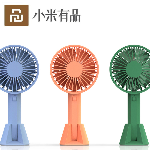 New Youpin VH Brand Portable Handheld Fan Low Noise With Chargable Built in Battery USB Port Design Handy Mini Fan 3 levels wind