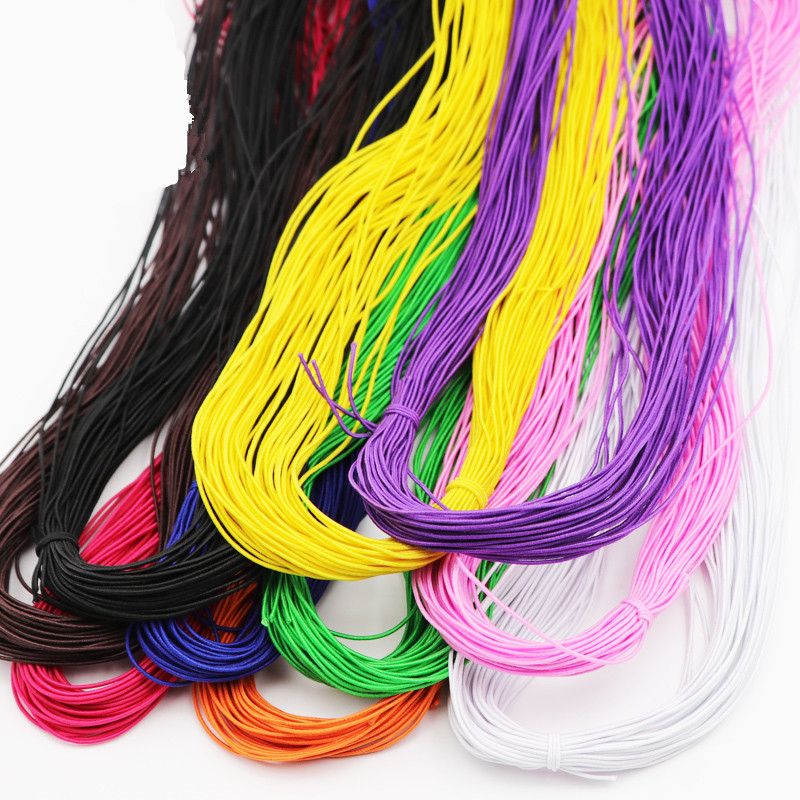 0.8MM Colorful Thin Round Elastic Band Stretch Rope Spendex Rubber Bands Elastic Line Wedding Garment DIY Cloth Sewing Accessory