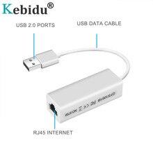 Kebidu USB 2,0 к RJ45 Lan адаптер Сетевая карта RD9700 высокая скорость для Mac OS Android планшетный ПК ноутбук Windows XP 7 рекламные