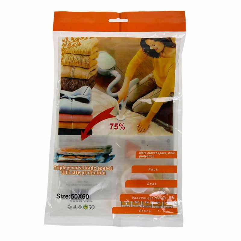 Bolsas de almacenamiento comprimidas al vacío que ahorran ropa de cama de viaje sello de espacio Vac bolsa