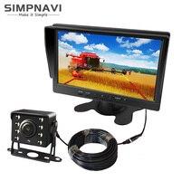 9-36V 8 zoll Auto Monitor mit AHD CVBS Kamera für Lkw Bus umfassen zwei halter und 15meter Umfangreiche Video Kabel