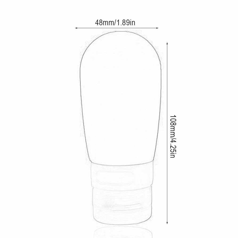Silikon seyahat kozmetik dağıtım şişeleri sevimli yuvarlak taşınabilir sıvı dağıtım şişeleri emülsiyon silikon şişeler