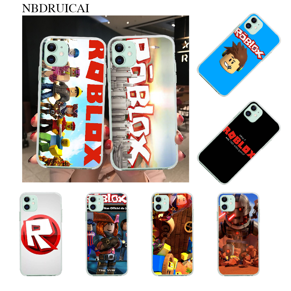 NBDRUICAI Games Roblox Logo Soft Phone Case for iPhone 11 pro XS MAX 8 7 6 6S Plus X 5S SE XR cover image