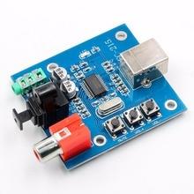 цены PCM2704 USB Sound Card DAC Decoding Board USB Input Coaxial Fiber and Analog Output HIFI Decoding Board
