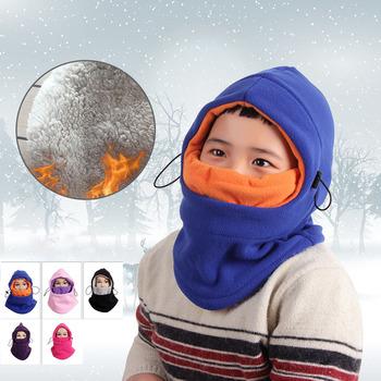 Dzieci kominiarki kapelusz dzieci osłona na twarz ciepłe kaptury wiatroszczelna szyi cieplej zima na zewnątrz kominiarka termiczna z polaru twarz gruby kapelusz tanie i dobre opinie CN (pochodzenie) Chłopcy Pasuje prawda na wymiar weź swój normalny rozmiar Windproof COTTON Running Cycling Ice and Snow Hiking Mountaineering and Camping